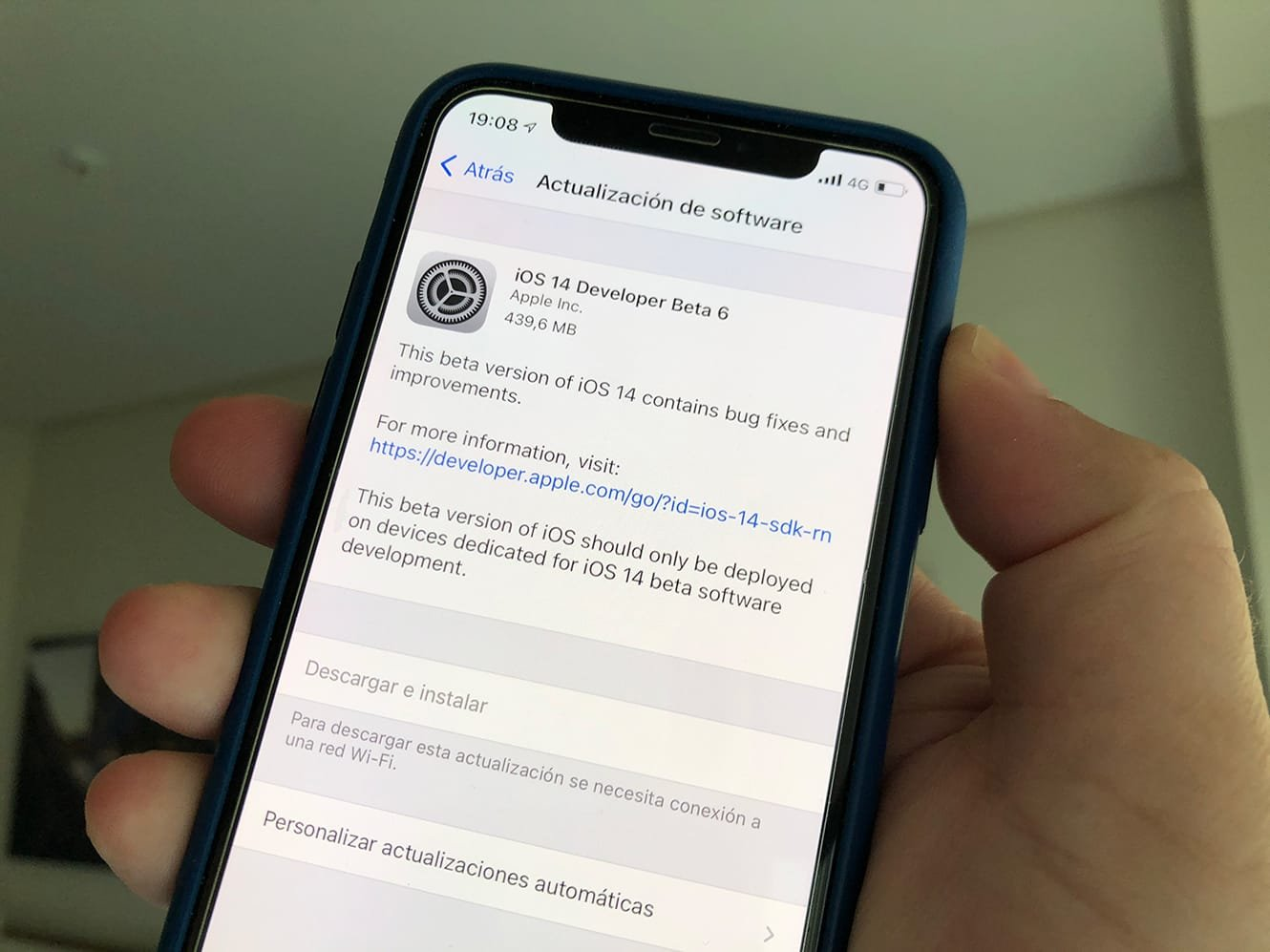 iOS 14 Developer Beta 6